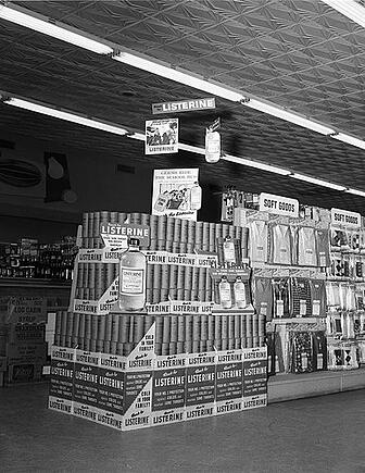 Example of multiple point-of-purchase displays placed together to form an end-cap