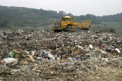 packaging in landfill