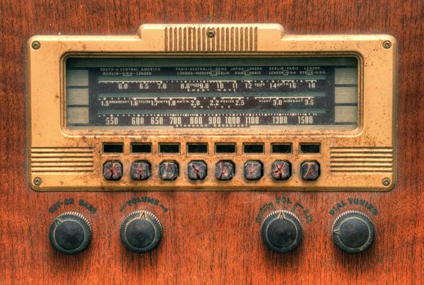 vintage antique radio dial