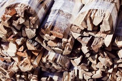 strech film bundled firewood