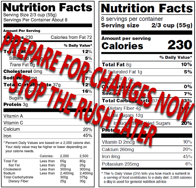 Updates To The FDA Nutrition Label Requirements For Packaged Foods